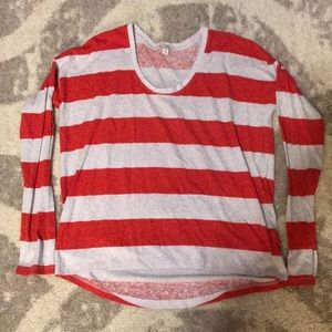 Gap xsmall comfy l/s tee red and grey
